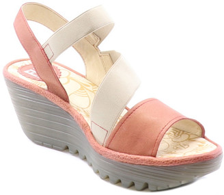 Fly London Yesa Leather Wedge Sandal