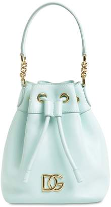 Dolce & Gabbana MILLENNIALS LEATHER BUCKET BAG