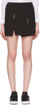 Versus Black Double Safety Pin Miniskirt