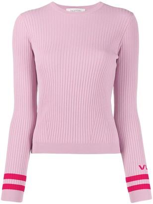 Valentino ribbed crew neck VLTN jumper