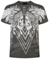 Philipp Plein Dramatic Embellished Skulls T-shirt