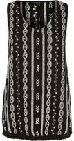 River Island Womens Black embroidered festival top