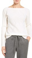 Nordstrom Women's High/low Boatneck Cashmere Sweater