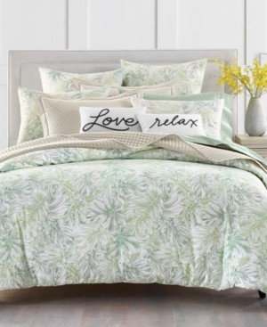 Charter Club Damask Designs Printed Leaves 300-Thread Count King Duvet Set, Created for Macy's Bedding