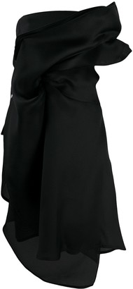 Nina Ricci Draped Midi Dress