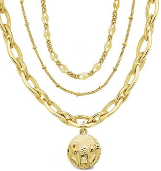 Sterling Forever 14K Plated Egyptian Pendant Necklace
