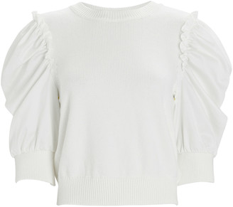 ADEAM Tulip Puff Sleeve Sweater