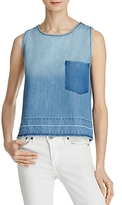 Bella Dahl Cross Back Chambray Tank