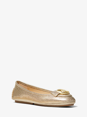 Michael Kors Lillie Metallic Saffiano Leather Moccasin