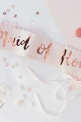 Ginger Ray Pink And Rose Gold Foiled Maid Of Honour Sash