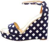 Kate Spade Canvas Platform Wedges w/ Tags