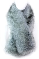 Futrzane Winter Straight Scarf Wrap Faux Fake Fur Collar Shawl Shrug Fluffy Collors