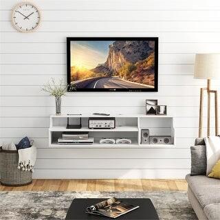 Overstock Wood Shelf TV Console TV Stand Wall Mounted Media Console Shelf