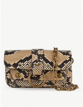 Zadig & Voltaire ZADIG&VOLTAIRE Kate Wild Wallet snakeskin-print cross-body bag