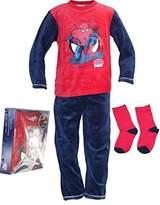 Spiderman New Boys Long Pyjamas / Sleepsuit with Socks | in Box Pack