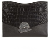 Proenza Schouler Medium Curl Leather Clutch - Black