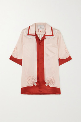 Casablanca Printed Silk-satin Shirt - Red