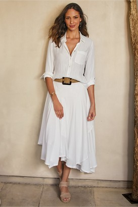 Soft Surroundings Petites Essential Gauze Skirt