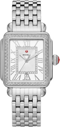 Michele Deco Madison Mid Diamond Watch Head & Bracelet, 33mm