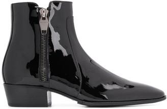 Balmain Side Zips Ankle Boots
