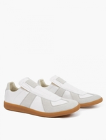 Maison Margiela White Leather REPLICA Slip-On Sneakers