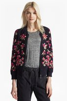 French Connection Gilliam Stitch Embroidered Bomber Jacket
