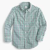 J.Crew Kids' Secret Wash shirt in double plaid