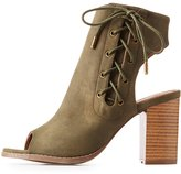 Charlotte Russe Lace-Up Slingback Booties