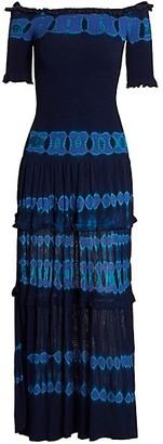 Altuzarra Ayaka Off-The-Shoulder Shirred Maxi Dress