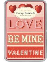 Cavallini Papers & Valentines Glitter Vintage Postcards