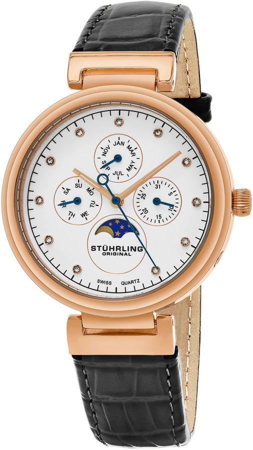 Stuhrling Original Womens Gray Strap Watch-Sp16304