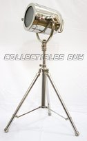 Collectibles Buy A very Beautiul Nickel casting searchlight on steel sterdy tripod modern lamp