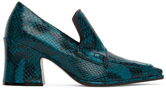 Dries Van Noten Blue Snake Oxford Heels