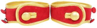 Prada Red Leather Bracelets