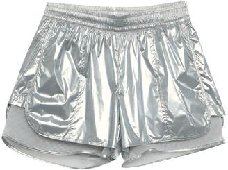 adidas by Stella McCartney Layered Metallic Shell And Mesh Shorts