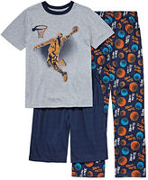 Arizona 3-pc. Kids Basketball Pajama Set Boys
