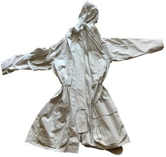 Equipment White Cotton Coat for Women