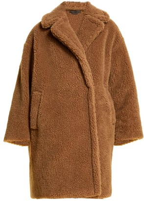 Marina Rinaldi, Plus Size Tabula Camel Wool Teddy Coat