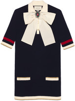 Gucci Cotton knitted dress with bow