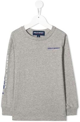 Ralph Lauren Kids Logo Print Long-Sleeved Top
