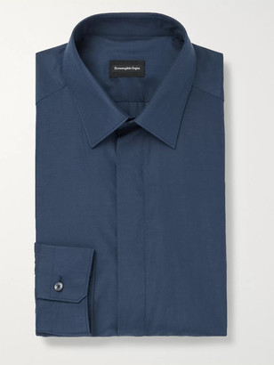Ermenegildo Zegna Silk And Cotton-Blend Shirt