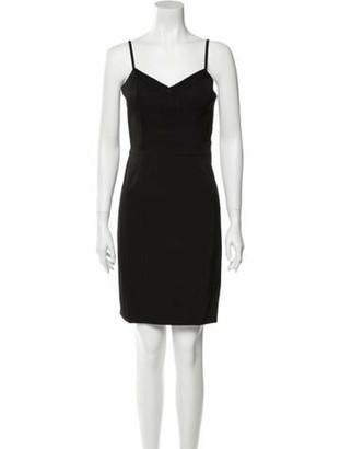 Alexander Wang V-Neck Knee-Length Dress w/ Tags Black
