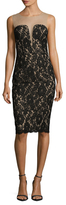 Bailey 44 Lace Illusion Sheath Dress