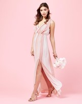 TFNC V Neck Striped Maxi Dress