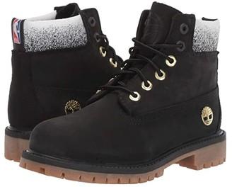 Timberland Kids 6 Premium Waterproof Boot - Toronto Raptors (Little Kid) (Black Nubuck) Kid's Shoes