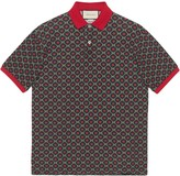 Gucci Oversize polo with GG star print