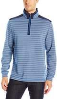 Bugatchi Men's Dockside Long Sleeve 1/2 Zip Pullover