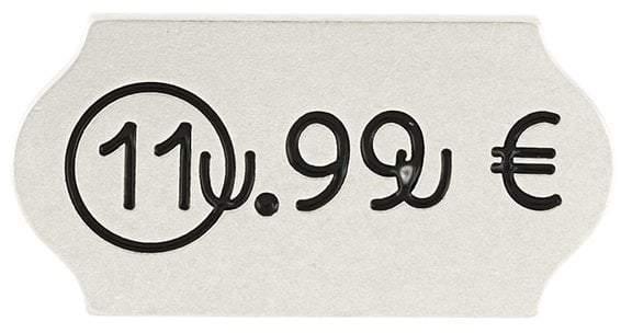 Maison Margiela price sticker brooch