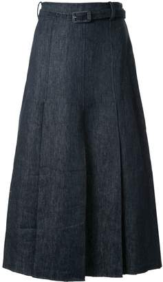 Gabriela Hearst Herbert box pleat skirt