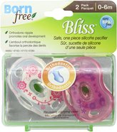 Born Free BF Pacifier Orthodontic 0-6 Twin Pack - Girl